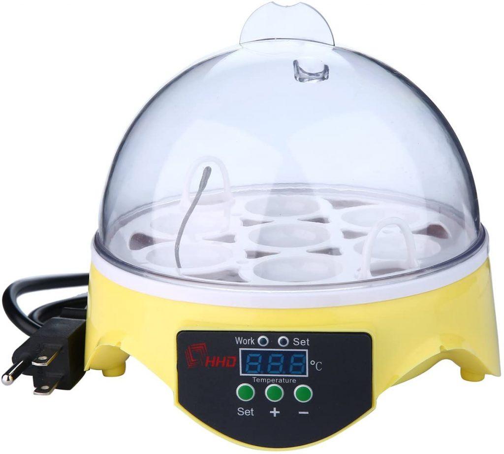 niceEshop(TM) US Plug 7 Eggs Mini Automatic Digital Temperature Control - egg incubators good for reptile